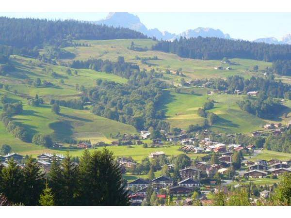 view over Megeve valley