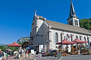 Market place in St Jean d'Aulps
