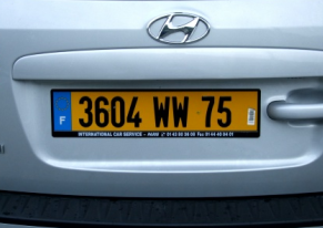 french car registration plate
