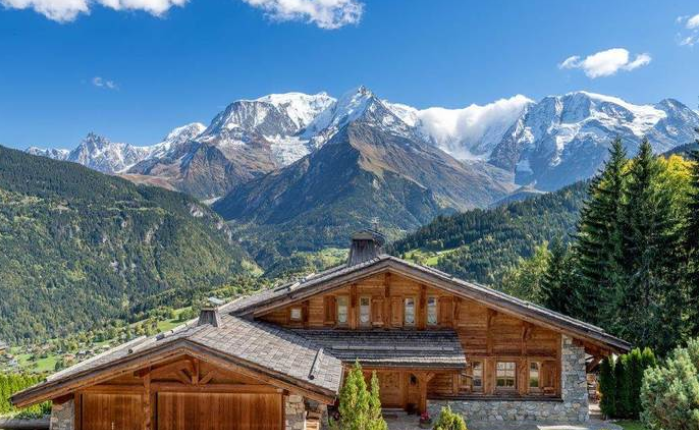 st gervais chalet to buy with mont blanc views