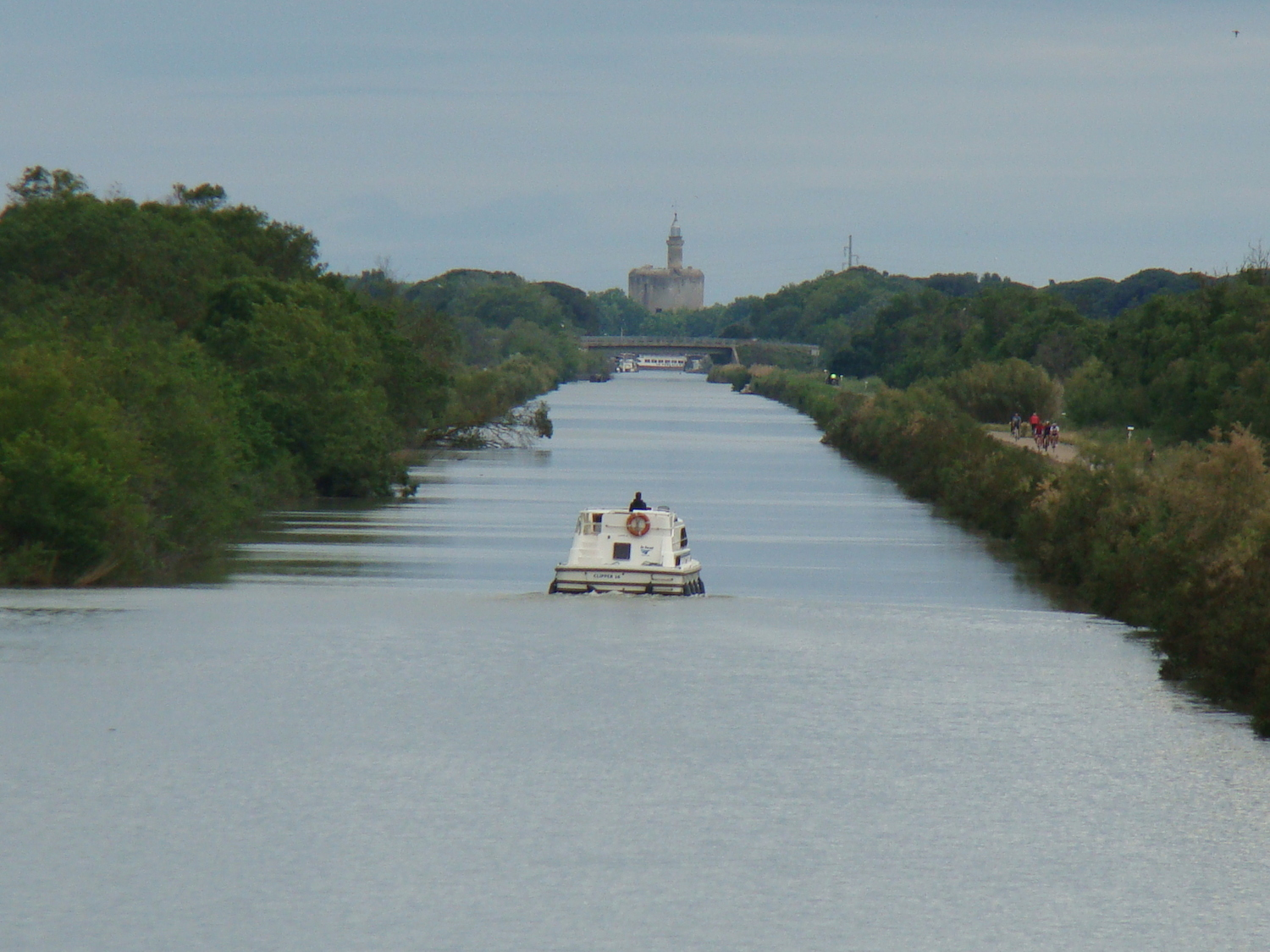 Canal with Aigues-Mortes in the distance